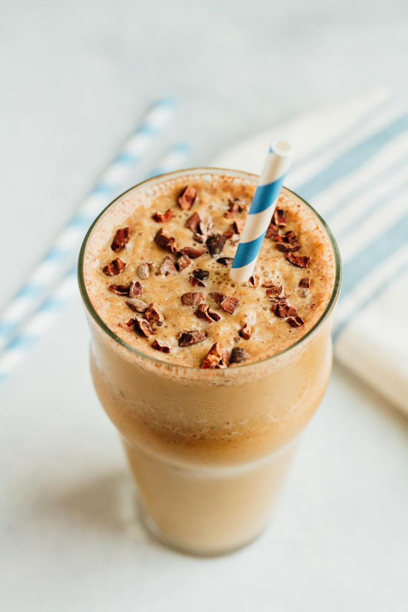 Malted Chocolate Cauliflower Smoothie