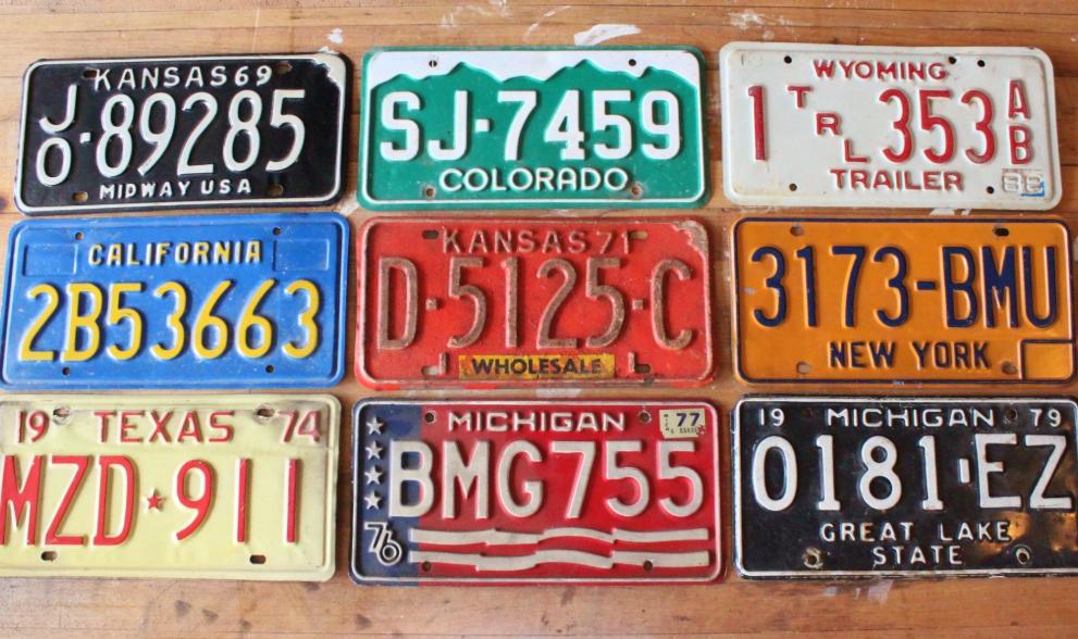 Clean A License Plate