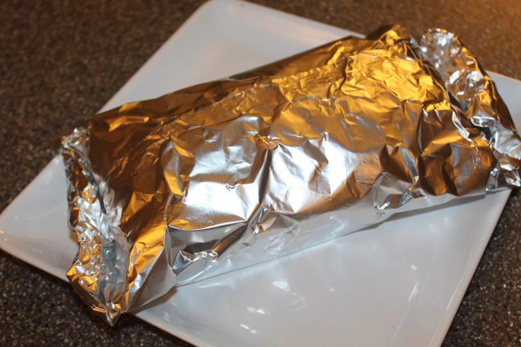 Bread Wrapped In Foil