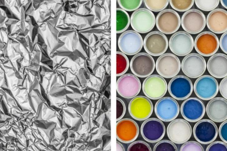Aluminum Foil With Paint Cans