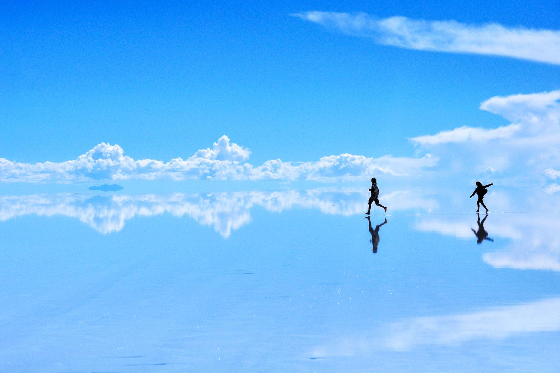 The Salt Flats Become A Natural Mirror
