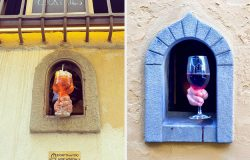 Wine Windows In Italy Serving Up Drinks